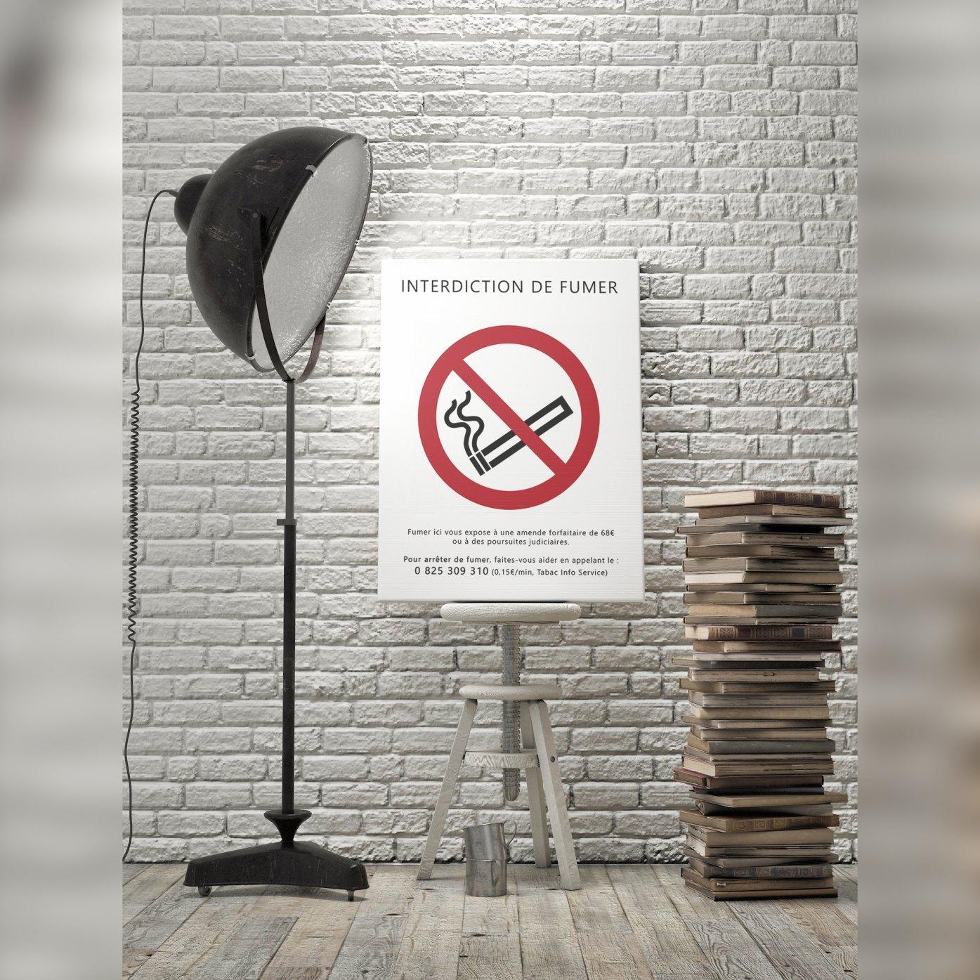 affiche interdiction de fumer entreprise. Black Bedroom Furniture Sets. Home Design Ideas