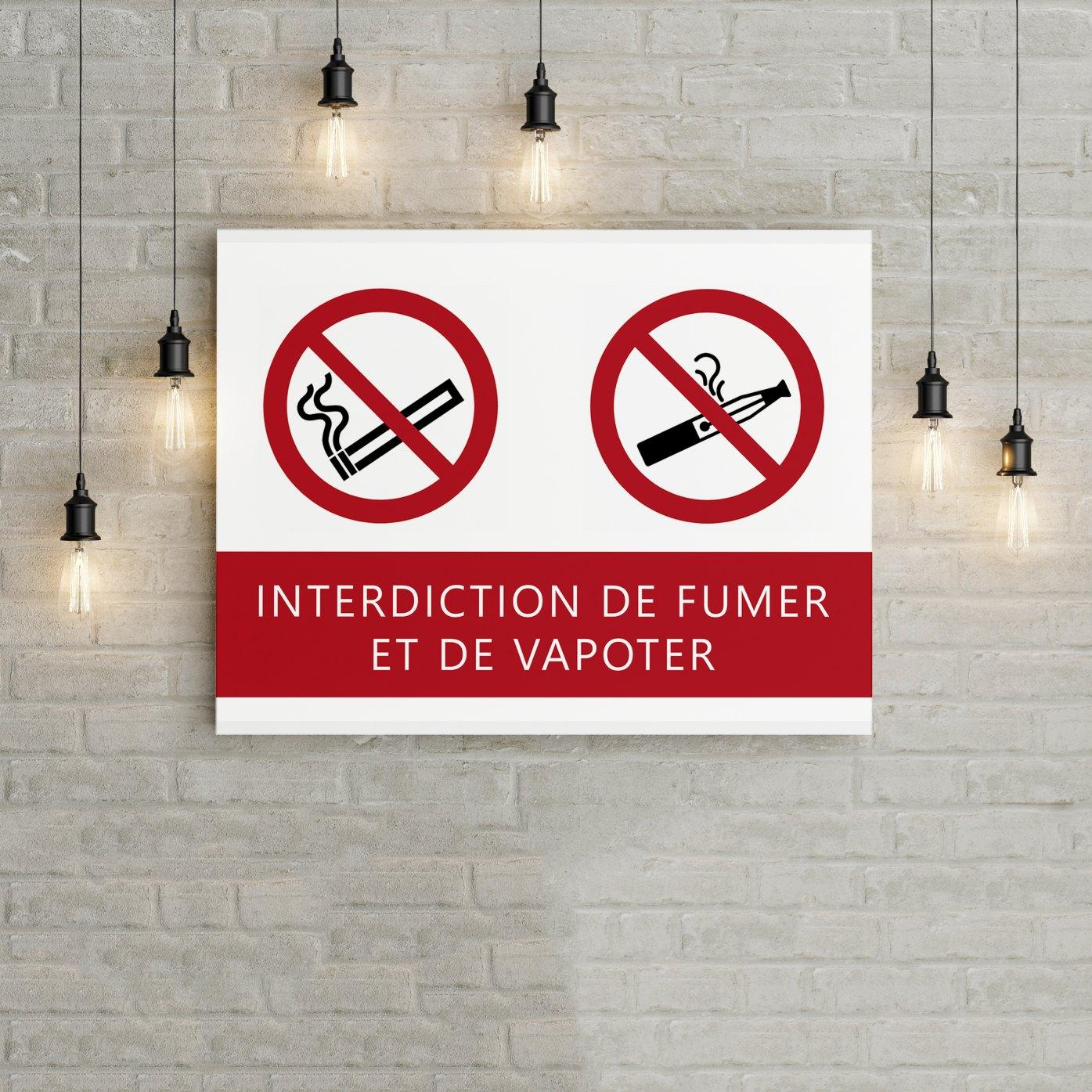 Pictogrammes Interdiction De Fumer Et Vapoter