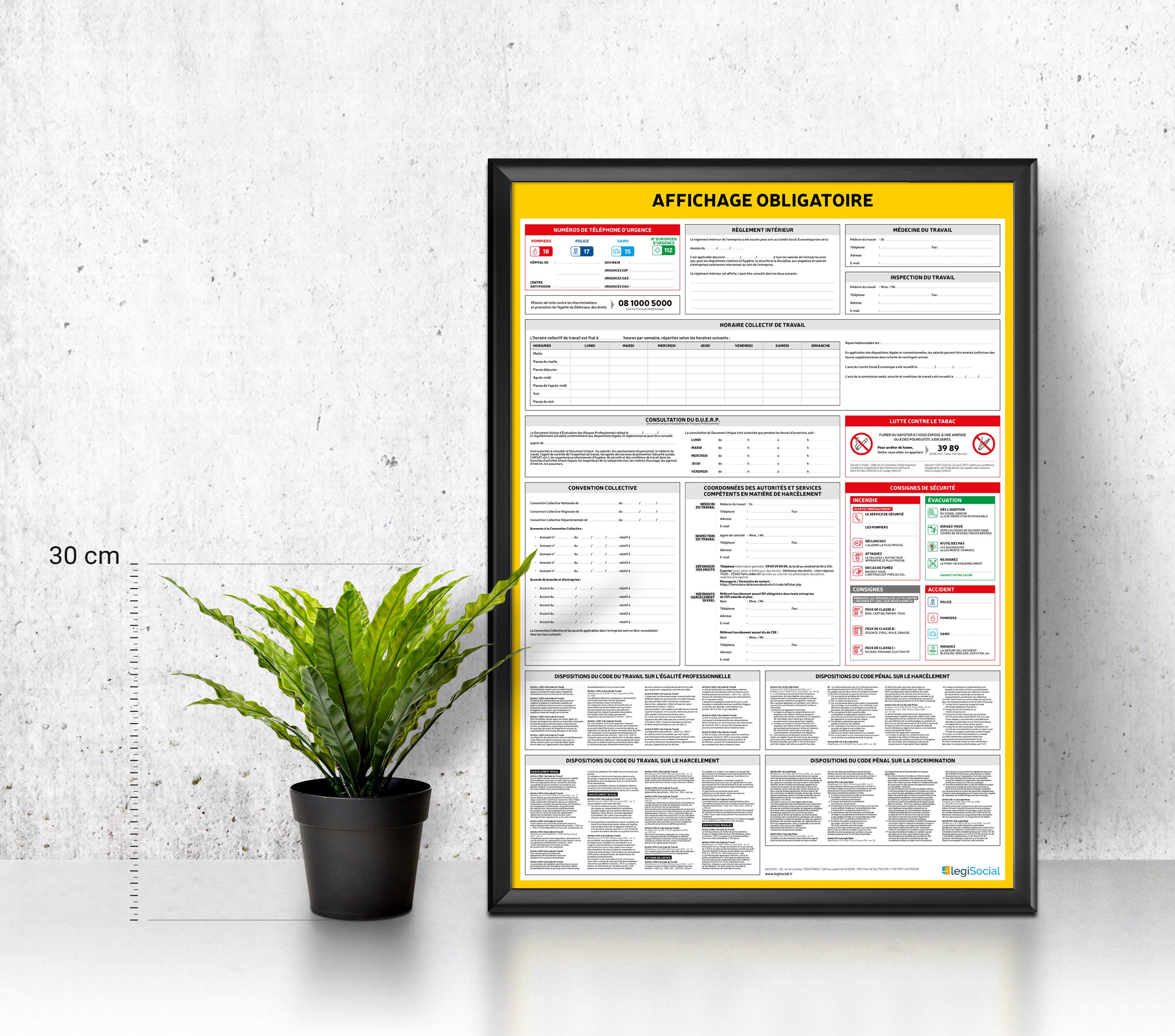 Affichage Obligatoire Tout En Un Pour Les Entreprises Jusqu A 10 Salaries